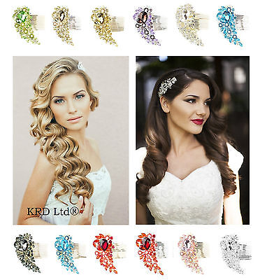 Bridal DIAMOND HAIR COMB Wedding Prom Girls Ladies Fancy Dress Night Party Tiara