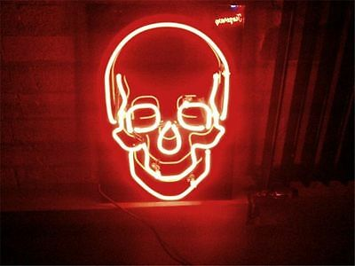 "New Haunted House SKULL Cranial Neon Light Sign Display Beer Bar Pub Club 17""x14"