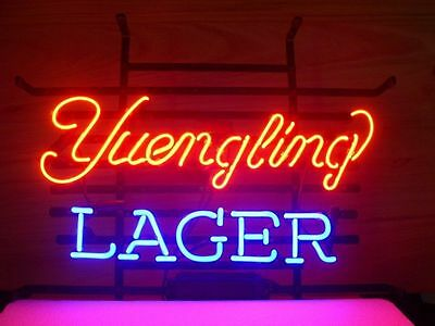 New Yuengling Lager Real Glass Neon Light Sign Home Beer Bar Pub Sign