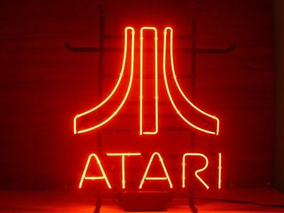 New ATARI Real Glass Neon Light Sign Home Beer Bar Pub GameRoon Sign B02
