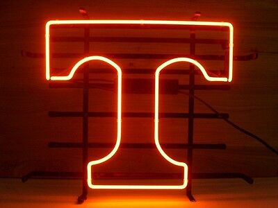 New Tennessee Volunteers Real Glass Neon Light Beer Bar Pub Sign Bc18