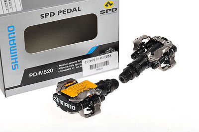 SHIMANO SPD Ciclismo MTB Pedales automáticos Touring Pedals PD-M520 Negro