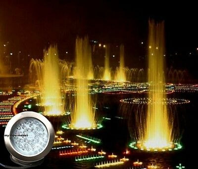 7Cols LED Underwater Pool Pond Fountain Lamp Light, 5W 24V RGB 21Leds