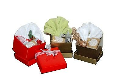 Bath hamper- Cuty Gift box set of 3- Luxury face towel and handmade soap