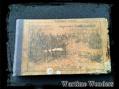 Imperial German 1883 Military Song Book Very Rare