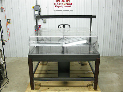 "48"" Bulk Bakery Farmers Market Grocery Bagel Candy Peanut Dry Display Case 4'"