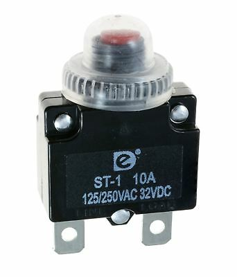 15A Resettable Panel Mount Thermal Circuit Breaker + Dust Cap Cover