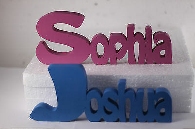 personalised freestanding wooden name plaque home decoration novelty word sign