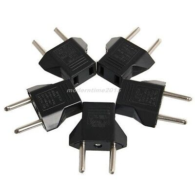 5PCS US to Euro Conversion Plug Adapter American European Travel Adapter Charger