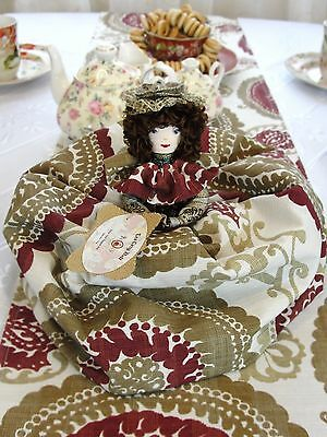Medallion Tea Cozy Doll 9 Piece Set by Mrs. T-Cozy, made in USA