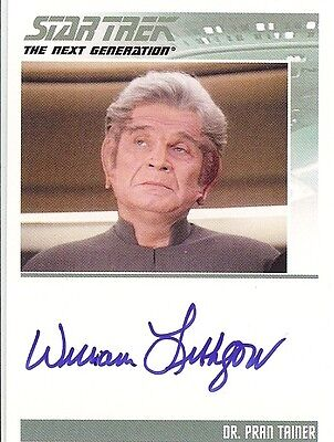 Star Trek TNG Complete Serie 2 : William Lithgow (Dr. Pran Tainer) autograph