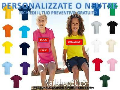 Maglietta Bambino Manica Corta Fruit Of The Loom Valueweight Personalizzata