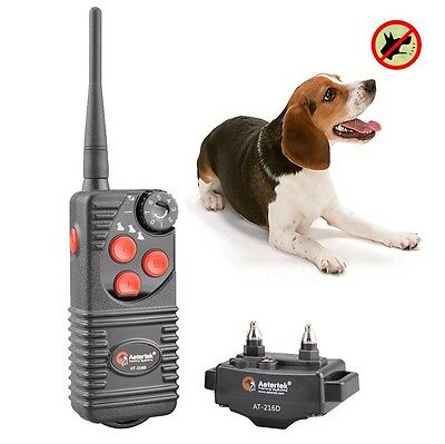 Aetertek 216D Waterproof Dog Training Shock Collar trainer Remote vibrate beep