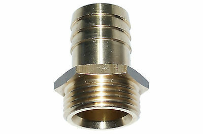 5 x Threaded Male Hose Socket Connection Brass Div. Mod. Sizes