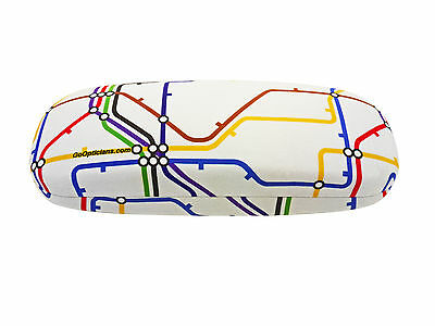 Unisex Hard GoOpticians Underground Train Map Spectacle / Glasses Case