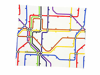Premium Quality Microfibre GoOpticians Underground Map Lens Cleaning Cloths