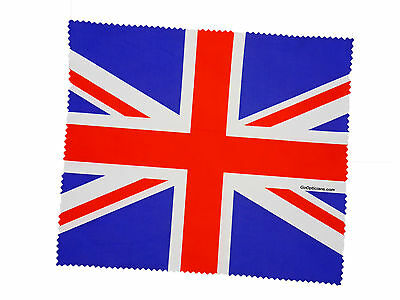 Premium Quality Microfibre GoOpticians Union Jack Lens Cleaning Cloths