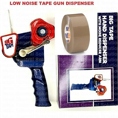 Heavy Duty Metal Hand Dispenser Gun + 1 Roll Of Brown Parcel Tape  48mm x 150m