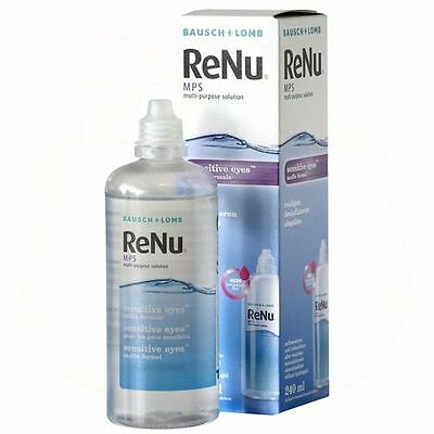 Bausch + Lomb ReNu Multi purpose Contact Eye Solution Cleaner 240ml + Lens Case