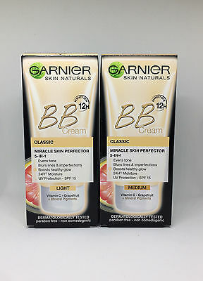 TOP GARNIER Miracle Skin Perfector Daily All in One BB Cream  SPF15 Light/Medium