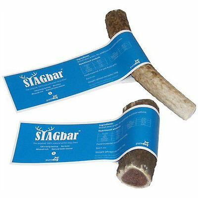 Small Stag Bar 100% natural antler dog puppy tough dental chew treat x 2 pack