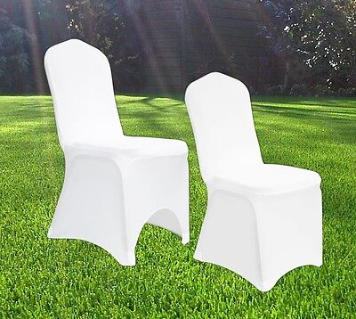 1-100 Chair Covers Spandex Lycra Wedding Banquet Anniversary Party Decor