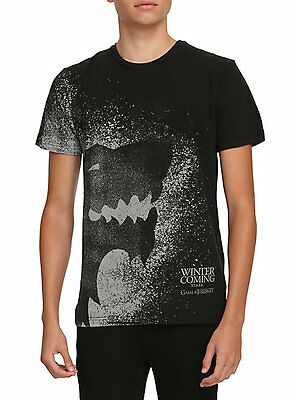 Game Of Thrones STARK DIREWOLF SPLATTER WINTER IS COMING T-Shirt NWT Licensed