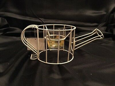 Metal Watering Can Votive Holder By Ganz
