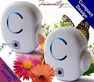 2 x Air Purifier Ozone Generator for healthy life compact design purifier