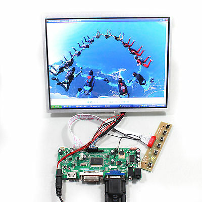 HDMI DVI VGA Audio LCD driver board with 10.4inch G104X1 L04 1024x768 LCD panel