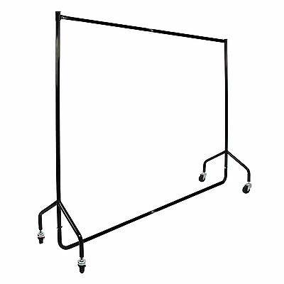 Clothes Rail 6ft Heavy Duty Shop Display Clothing Stand Dress Garment Metal