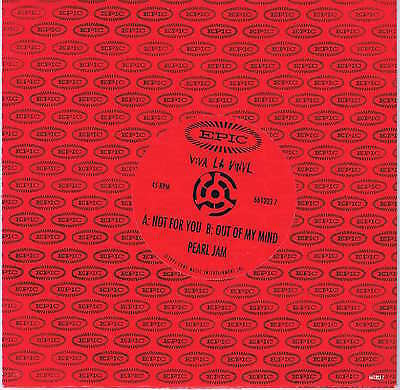 Pearl Jam – Not For You – 661203 7 – 7-inch Vinyl Record