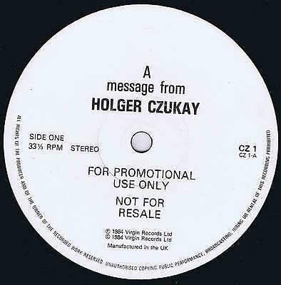 A Message From Holger Czukay – Promotional 12-inch Record – CZ 1