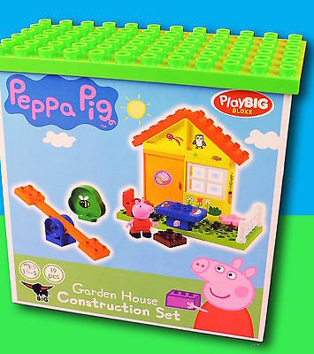 PEPPA PIG GARDEN HOUSE PLAYSET CONSTRUCTION SET compatible with DUPLO BRICKS