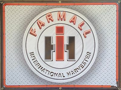 Farmall International Harvester Tractor Neon Style Banner Sign Art 4' X 3'