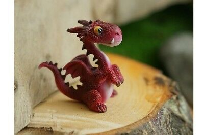Miniature Dollhouse FAIRY GARDEN - Mini Red Dragon - Accessories