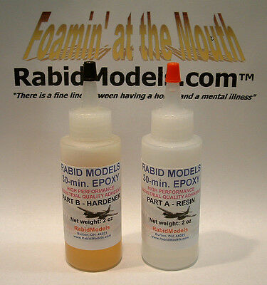 30-minute EPOXY GLUE 4 OZ SET (2x2oz) STRONG industrial-strength adhesive
