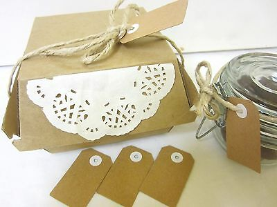 30 x BROWN KRAFT TAGS WEDDING CRAFT GIFT TAGS LABELS BLANK LUGGAGE TAGS
