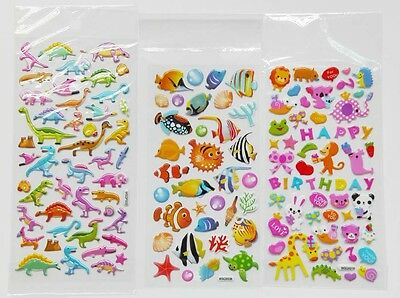 Mini Stickers Dinosaurs Fish and Animals For Children Kids Gifts