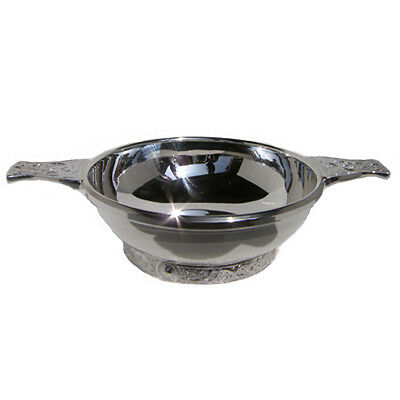 Hallmarked Silver Quaich.  Top Quality Sterling Silver Quaich Made In England