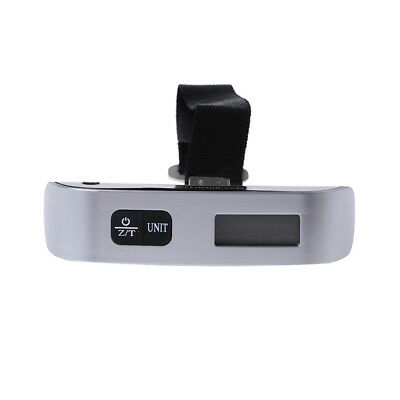 50kg x 50g Digital LCD Handheld Luggage Baggage Weight Scale Thermometer