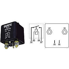 Durite Heavy Duty Relay Make/Break 100 amp 12 volt 0-727-10