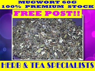 MUGWORT 60G ☆ Artemisia vulgaris☆ PREMIUM STOCK ☆ FREE POST SAVE
