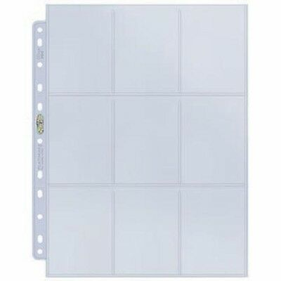 Ultra Pro 9 Pocket Pages A4 Platinum Trading Card Protection Pokemon MTG - Clear