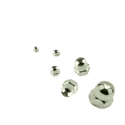 A4 Marine Grade Stainless Steel - Hex Head Dome Nuts M3 - M12