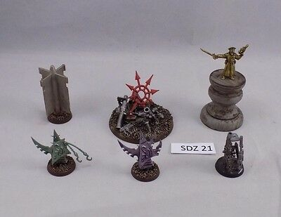 WARHAMMER 40k SCENERY 6 custom OBJECTIVE MARKERS very COOL! (SDZ 21)