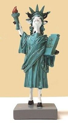 Cow Parade Lady Liberty Heifer Figurine, New York City Statue of Liberty Cow