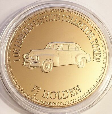 "NEW 2016 ""FJ HOLDEN"" M/Car Series 2 1 0z HGE 999 24k Gold Coin LTD 2,500"