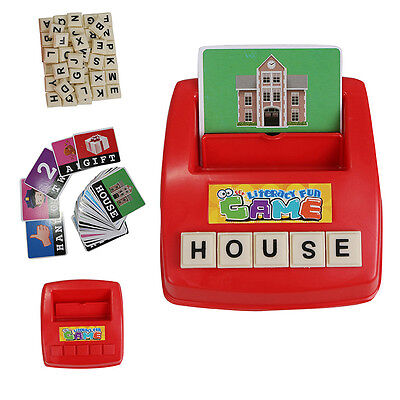 kid Spelling Scrabble Alphabet Words Board educational assembly Puzzle Toys Game