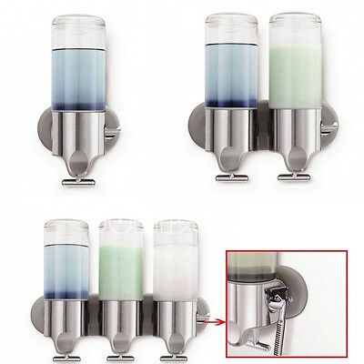 Bathroom Shower Soap Bath Gel Body Lotion Shampoo Pump Dispenser Wall Mounted